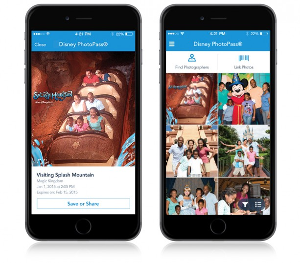 DISNEY PHOTOPASS AVAILABLE ON MY DISNEY EXPERIENCE MOBILE APP