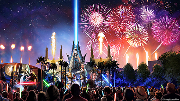 The New 'Star Wars: A Galactic Spectacular' Fireworks will debut June17